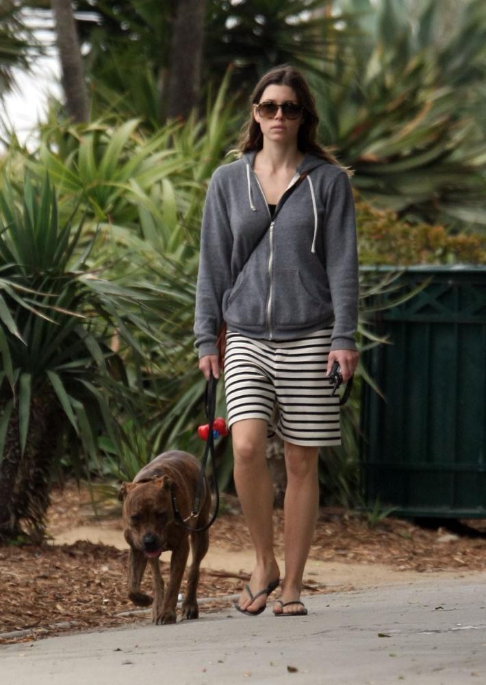 Jessica Biel walks her dog (2/6)