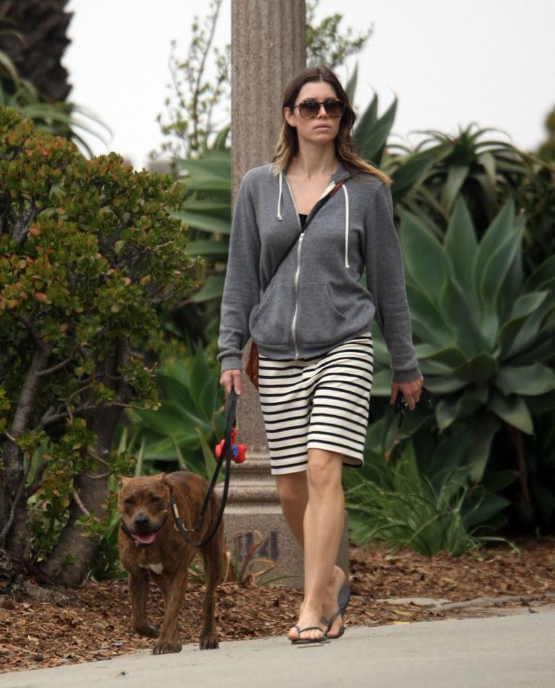 Jessica Biel walks her dog (6/6)